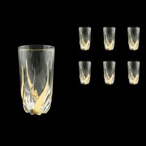 Trix B0 TCG Water Glasses 470ml 6pcs in Clear&Gold (1246)