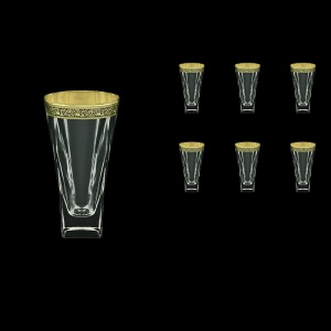 Fusion B0 FMGB Water Glasses 384ml 6pcs in Lilit Golden Black Decor (31-398)
