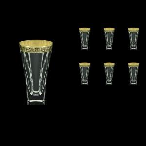 Fusion B0 FMGB Water Glasses 384ml 6pcs in Lilit Golden Black Decor (31-398)