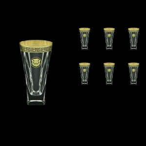Fusion B0 FOGB Water Glasses 384ml 6pcs in Lilit&Leo Golden Black Decor (41-398)