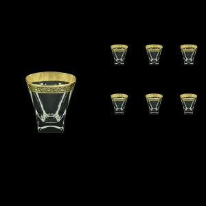 Fusion B2 FMGB Whisky Glasses 270ml 6pcs in Lilit Golden Black Decor (31-397)