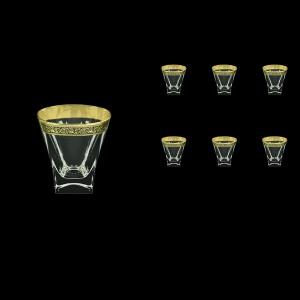 Fusion B2 FMGB Whisky Glasses 270ml 6pcs in Lilit Golden Black Decor (31-397)