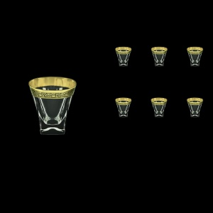 Fusion B3 FMGB Whisky Glasses 200ml 6pcs in Lilit Golden Black Decor (31-437)