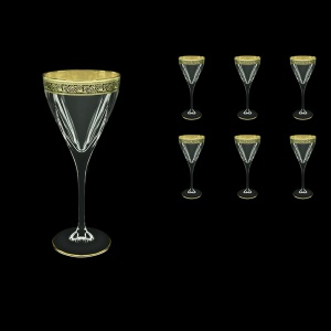 Fusion C2 FMGB Wine Glasses 250ml 6pcs in Lilit Golden Black Decor (31-432)
