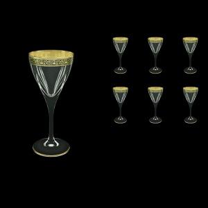 Fusion C3 FMGB Wine Glasses 210ml 6pcs in Lilit Golden Black Decor (31-431)