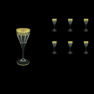 Fusion C5 FMGB Liqueur Glasses 70ml 6pcs in Lilit Golden Black Decor (31-430)