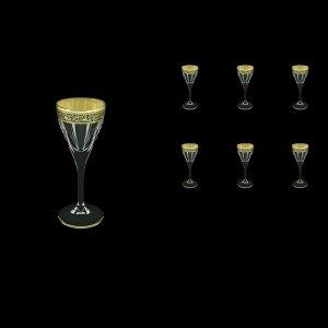 Fusion C5 FMGB Liqueur Glasses 70ml 6pcs in Lilit Golden Black Decor (31-430)