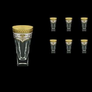 Fusion B0 FEGW Water Glasses 384ml 6pcs in Flora´s Empire Golden White Decor (21-548)