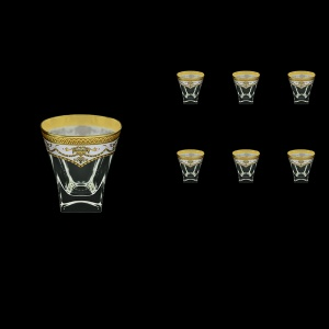 Fusion B3 FEGW Whisky Glasses 200ml 6pcs in Flora´s Empire Golden White Decor (21-546)