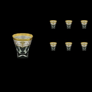 Fusion B2 FEGW Whisky Glasses 270ml 6pcs in Flora´s Empire Golden White Decor (21-547)
