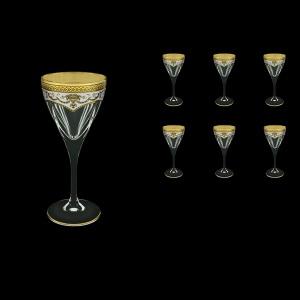 Fusion C3 FEGW Wine Glasses 210ml 6pcs in Flora´s Empire Golden White Decor (21-542)