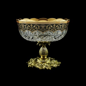 Opera MVZ OEGB Large Bowl d23cm 1pc in Flora´s Empire Golden Black Decor (26-532/JJ02)