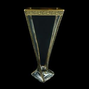 Bohemia Quadro VV QMGB B Vase 330,1pc in Lilit Golden Black Decor (31-468)