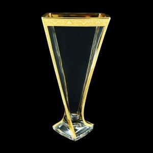 Bohemia Quadro VV QNGC B Vase 330,1pc in Romance Golden Classic Decor (33-468)