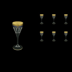 Fusion C5 FEGC Liqueur Glasses 70ml 6pcs in Flora´s Empire Golden Blue Decor (23-541)