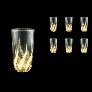 Trix B0 TTG Water Glasses 470ml 6pcs in Gold (1266)