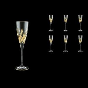 Trix CFL TTG Champagne Flutes 120ml 6pcs in Gold (1263)