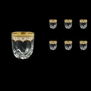 Trix B2 TEGW Whisky Glasses 400ml 6pcs in Flora´s Empire Golden White Decor (21-566)