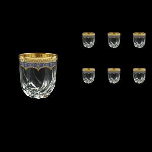 Trix B2 TEGC Whisky Glasses 400ml 6pcs in Flora´s Empire Golden Blue Decor (23-566)