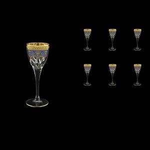 Trix C5 TEGB Liqueur Glasses 70ml 6pcs in Flora´s Empire Golden Blue Decor (23-561)