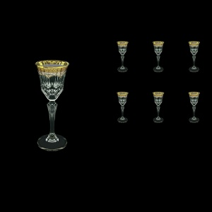 Adagio C5 AEGW Liqueur Glasses 80ml 6pcs in Flora´s Empire Golden White Decor (21-590)