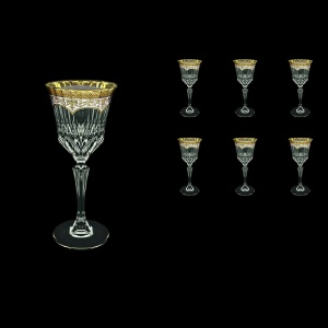Adagio C3 AEGW Wine Glasses 220ml 6pcs in Flora´s Empire Golden White Decor (21-592)
