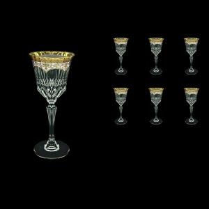 Adagio C3 AEGW Wine Glasses 220ml 6pcs in Flora´s Empire Golden White Decor (21-592)