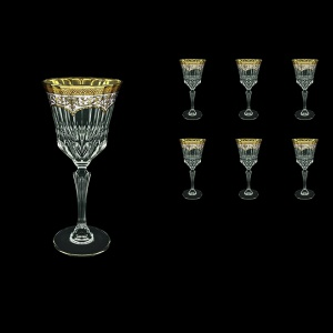 Adagio C2 AEGW Wine Glasses 280ml 6pcs in Flora´s Empire Golden White Decor (21-593)