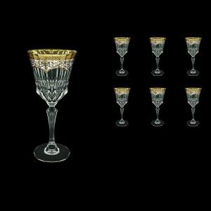 Adagio C2 AEGW Wine Glasses 280ml 6pcs in Flora´s Empire Golden White Decor (21-593)