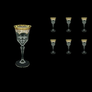 Adagio C4 AEGW Wine Glasses 150ml 6pcs in Flora´s Empire Golden White Decor (21-591)
