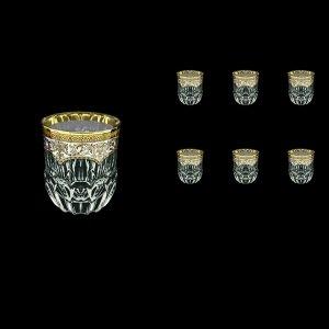 Adagio B2 AEGW Whisky Glasses 350ml 6pcs in Flora´s Empire Golden White Decor (21-595)