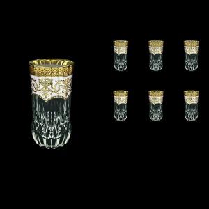 Adagio B0 AEGW Water Glasses 400ml 6pcs in Flora´s Empire Golden White Decor (21-596)