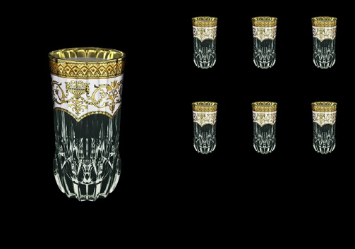 Adagio B0 AEGW Water Glasses 400ml 6pcs in Flora´s Empire Golden White Decor (21-596)