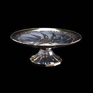 Trix CPA TEGB Cake Plate d33cm 1pc in Flora´s Empire Golden Black Decor (26-588)