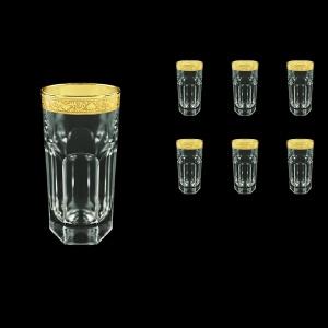 Provenza B0 PNGC Water Glasses 370ml 6pcs in Romance Golden Classic Decor (33-141)