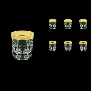 Provenza B2 PNGC Whisky Glasses 280ml 6pcs in Romance Golden Classic Decor (33-136)