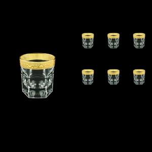 Provenza B3 PNGC Whisky Glasses 185ml 6pcs in Romance Golden Classic Decor (33-159)