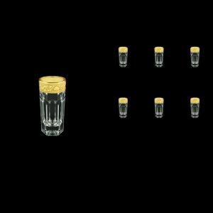 Provenza B5 PNGC Liqueur Tumblers 50ml 6pcs in Romance Golden Classic Decor (33-142)