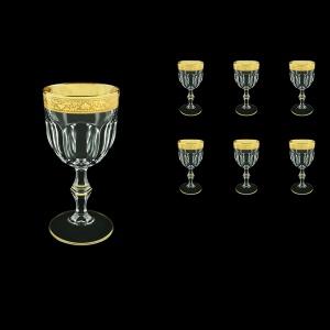 Provenza C3 PNGC Wine Glasses 170ml 6pcs in Romance Golden Classic Decor (33-139)