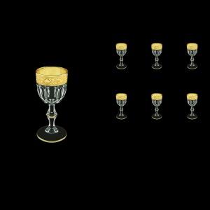 Provenza C5 PNGC Liqueur Glasses 50ml 6pcs in Romance Golden Classic Decor (33-143)