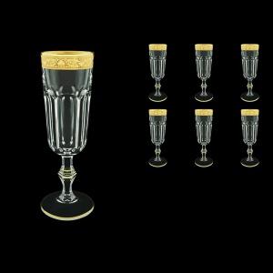 Provenza CFL PNGC Champagne Flutes 160ml 6pcs in Romance Golden Classic Decor (33-138)