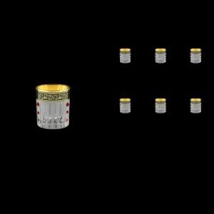 Timeless B5 TMGB SKLI Liqueur Tumblers 78ml 6pcs in Lilit Gold. Black D+SKLI (31-111/bKLI)