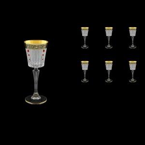 Timeless C5 TMGB SKLI Liqueur Glasses 110ml 6pcs in Lilit Gold. Black D+SKLI (31-112/bKLI)