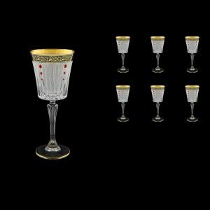 Timeless C3 TMGB SKLI Wine Glasses 227ml 6pcs in Lilit Gold. Black D.+SKLI (31-129/bKLI)