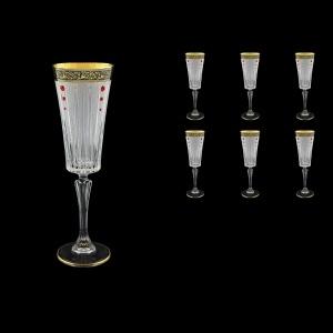 Timeless CFL TMGB SKLI Champagne Fluetes 210ml 6pcs in Lilit Gol. Black+SKLI (31-131/bKLI)