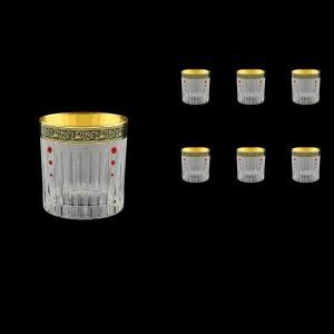 Timeless B2 TMGB SKLI Whisky Glasses 360ml 6pcs in Lilit Gold. Black D.+SKLI (31-132/bKLI)
