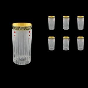 Timeless B0 TMGB SKLI Water Glasses 440ml 6pcs in Lilit Gold. Black D.+SKLI (31-133/bKLI)