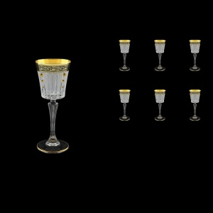 Timeless C5 TMGB SKTO Liqueur Glasses 110ml 6pcs in Lilit Gold. Black D+SKTO (31-112/bKTO)