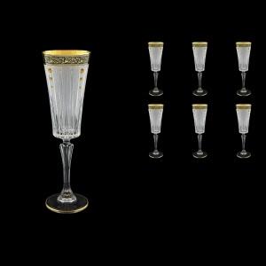 Timeless CFL TMGB SKTO Champagne Fluetes 210ml 6pcs in Lilit Gol. Black+SKTO (31-131/bKTO)