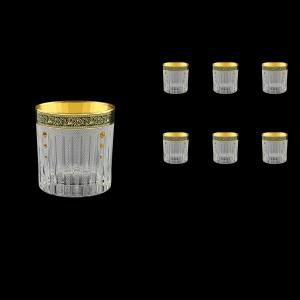 Timeless B2 TMGB SKTO Whisky Glasses 360ml 6pcs in Lilit Gold. Black D.+SKTO (31-132/bKTO)
